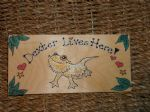 BEARDED DRAGON WOODEN VIVARIUM /BEDROOM SIGN PERSONALISED OOAK HANDMADE LIZARD REPTILE